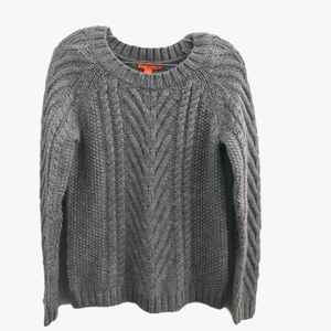 Joe Fresh Gray Chunky Cable Knit Sweater Size S